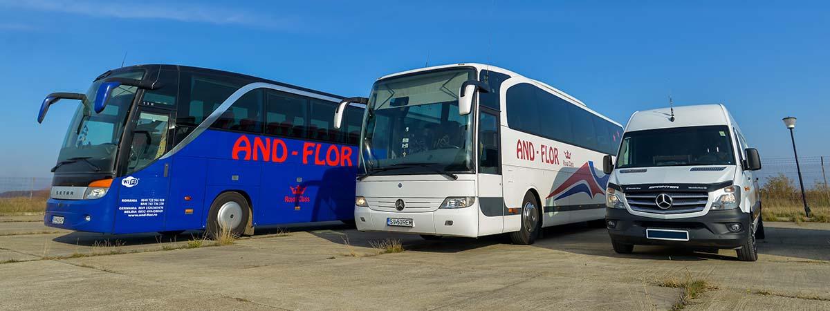 Beneficiază de transport persoane Germania la adresa! Bazează-te pe And Flor pentru servicii transport persoane cu autocare Germania Romania