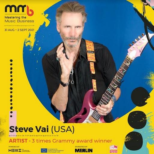 Steve Vai, celebrul chitarist american, vine la conferința Mastering the Music Business din București